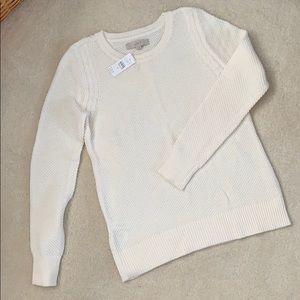 NWT Cream colored Loft sweater
